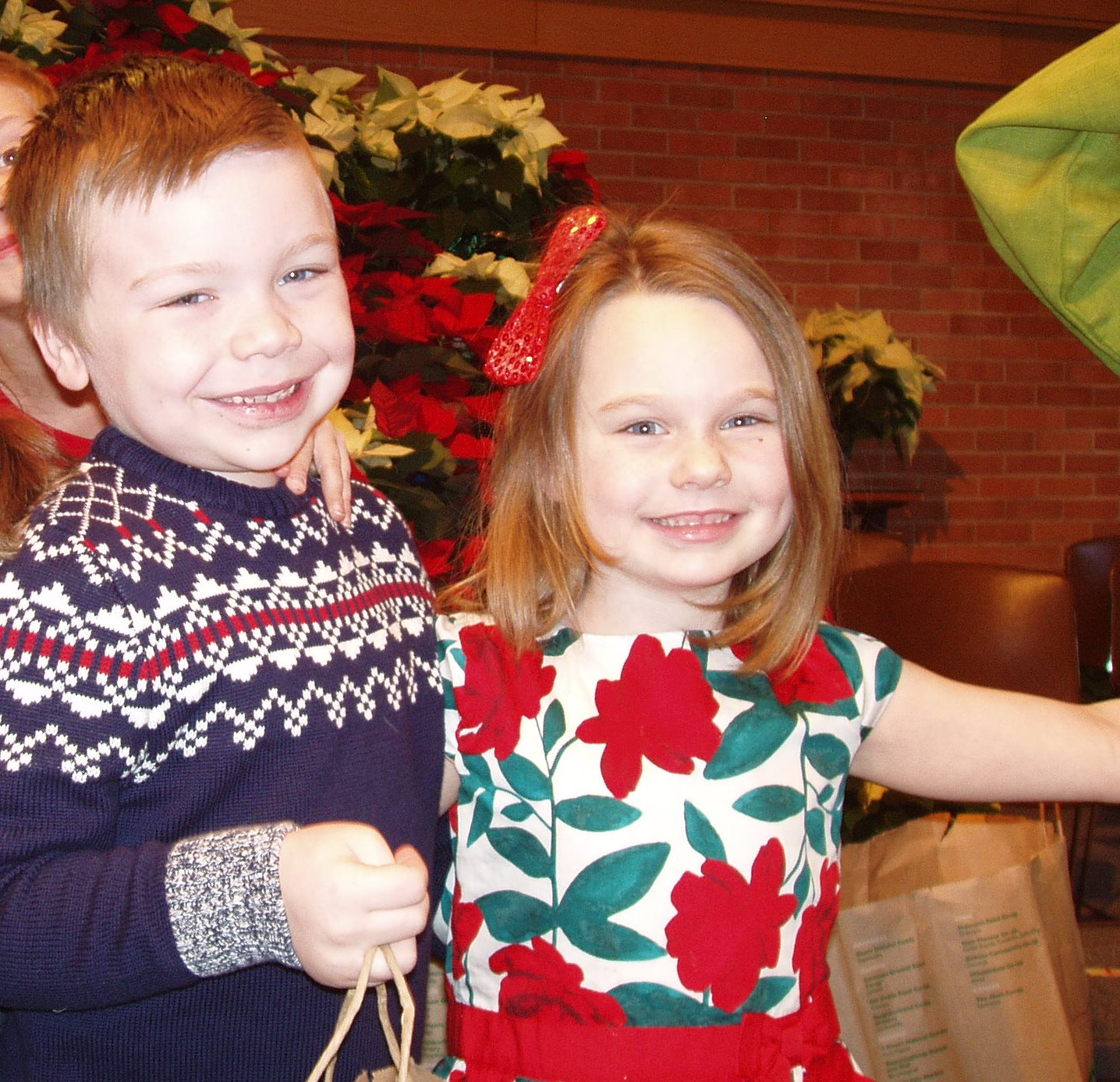 Pre-K kids full of smiles in Lead the Way to Christmas.